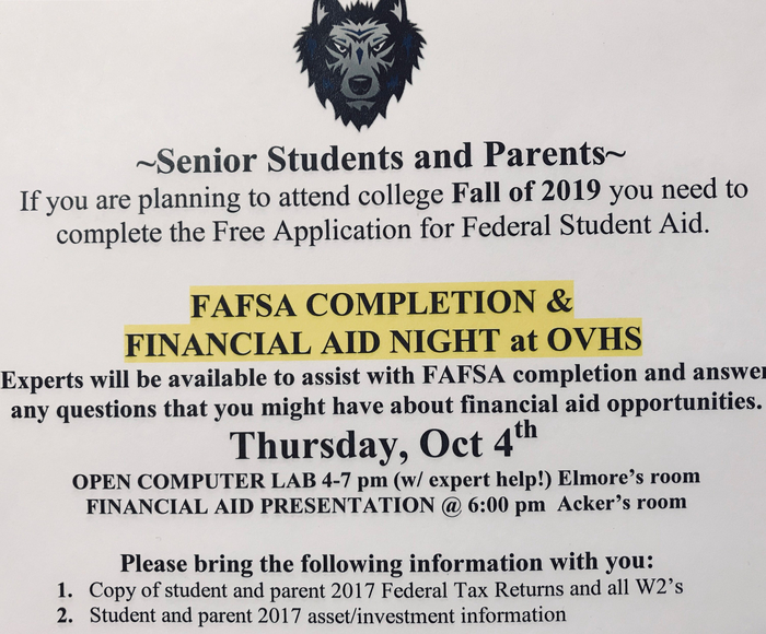 2018 Financial Aid Night