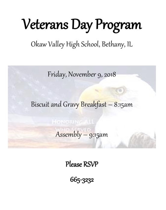 Veterans Day 11-9-18