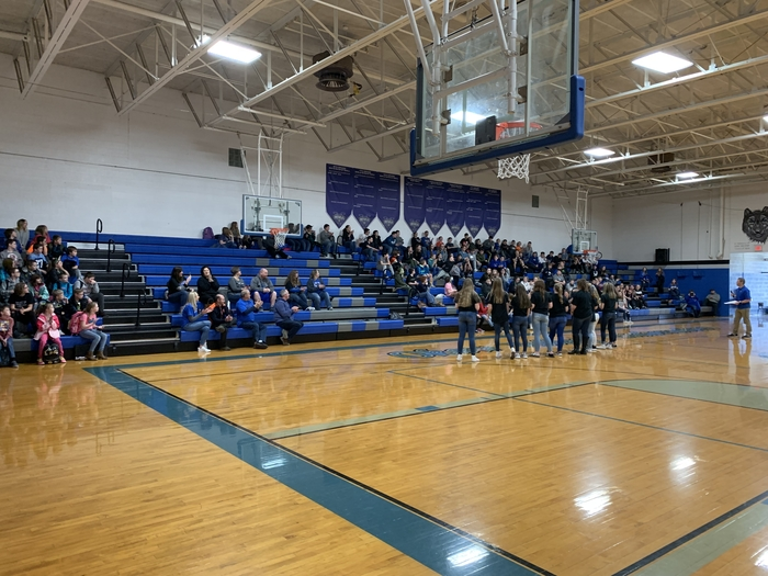 8th grade VB pep rally 2019
